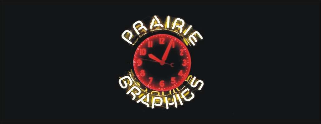 Prairie Graphics Clock for Web Site